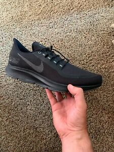 Nike Air Zoom Pegasus 35 Shield Triple Black Shoes Free Shipping AA1643 002
