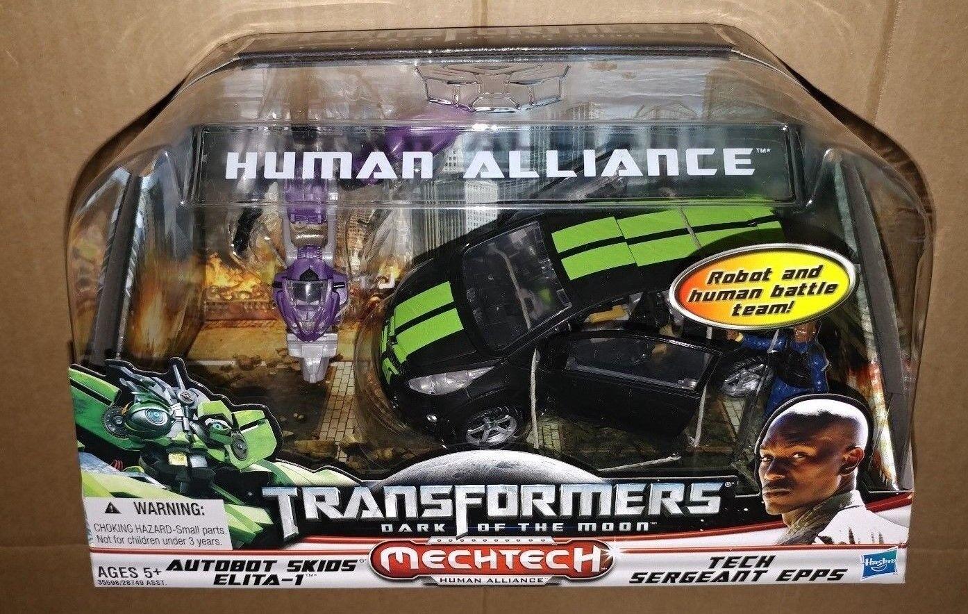 Transformers 3 DOTM HUMAN ALLIANCE AUTOBOT SKIDS & ELITA 1 EPPS Movie USA Chevy