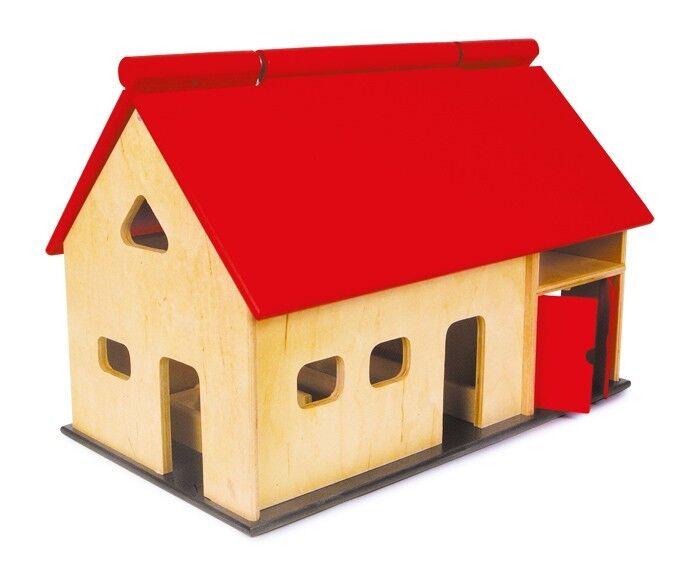 Casa Grande-Madera con Animales de Granja, juego para niños