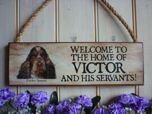 BESPOKE COCKER SPANIEL DOG SIGN WELCOME SIGN GARDEN SIGN HOUSE NAME SIGN PLAQUE
