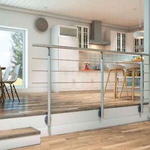 Aluminium Geländer, 150 cm, Handlauf, Brüstung, Balkongeländer ...