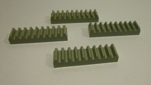 4 x LEGO® 3743 Technik,Zahnstein althellgrau 1x4 wie auf dem Foto.