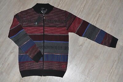 Carlo Colucci Cardigan Strickjacke schwarz rot blau Neu | eBay
