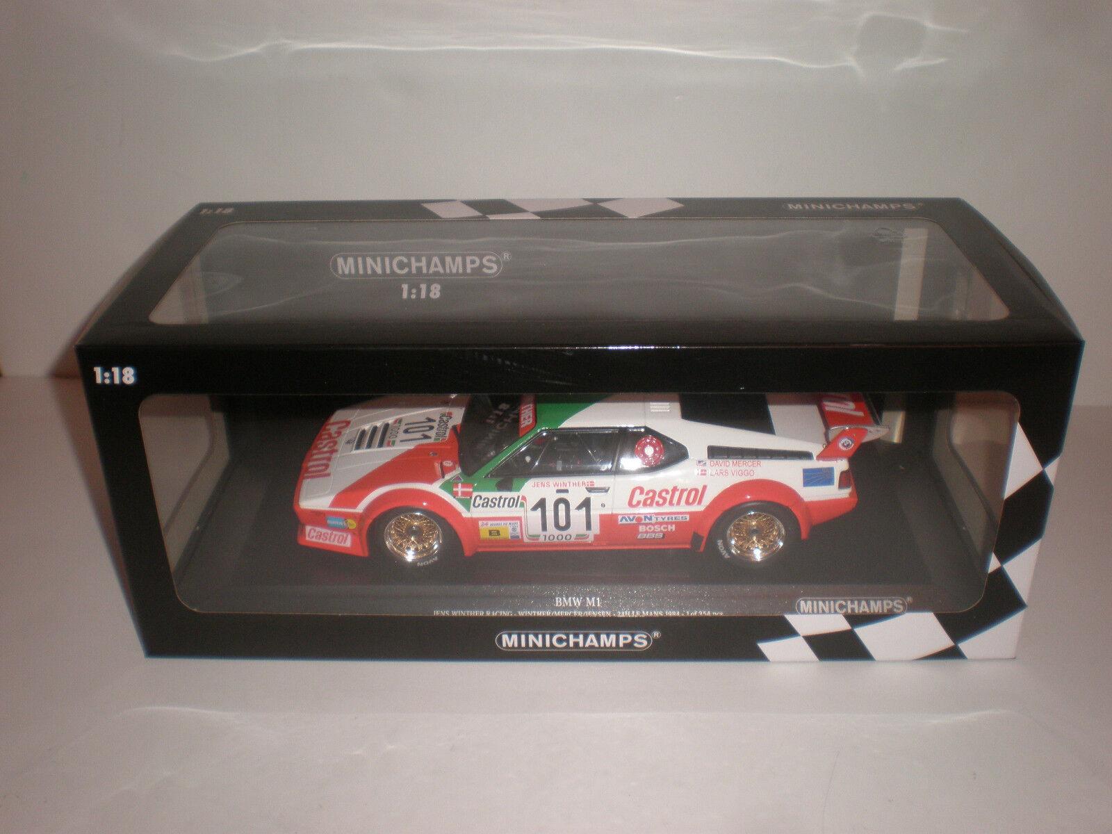 1 18 Minichamps BMW M1 E26 24h Le Mans 1984 Winther mercer Jensen