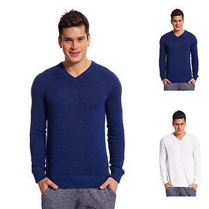 Copperside-Mens-100-Cotton-V-Neck-Sweater-Shirt-Pullover-Sport