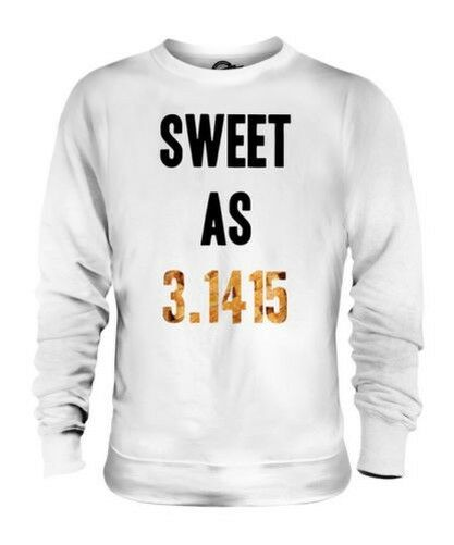 SWEET AS PI UNISEX SWEATER TOP GIFT MATHS SCIENCE