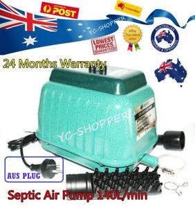 Details about Resun LP-100 Septic Tank Air Pump 140L/min Pond Aquarium  8400l/Hr 2Yr Elect Wty
