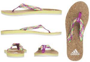 bcc596c2d962 Image is loading adidas-Mahilo-Woven-Flip-Flops-Womens-Cork-Sandals-