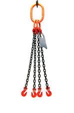 Chain Sling 58 X 6 Quad Leg With Grab Hooks Grade 80