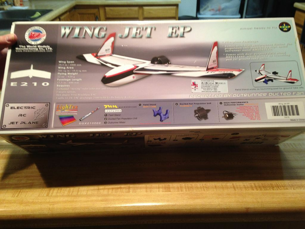 New R C World Models Wing Jet ARF With Brushless Motor & Ducted Fan