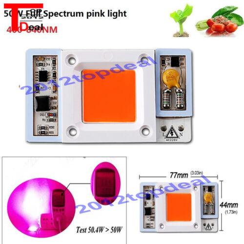 High Power 50W led chip built-in driver 400-840NM Full Spectrum LED 110V 220VAC