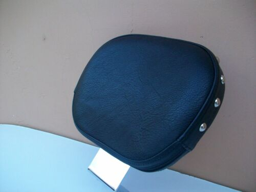 """Chrome"" Driver Backrest for HONDA ACE VT 750 w Black Studded Pad"