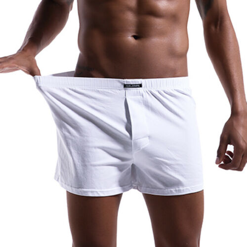 Mens Sports Fitness Underwear Low Rise Loose Shorts Solid Knickers Boxers Briefs