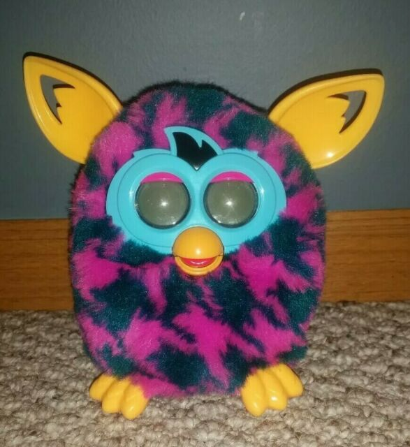 2012 Hasbro Furby Boom houndstooth purple, teal, yellow ...