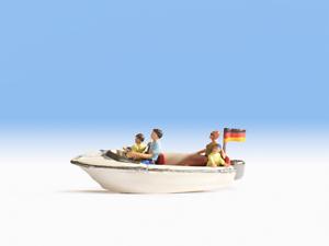 Noch-H0-16820-Bateau-a-Moteur-avec-4-Figurines-Neuf-Emballage-D-039-Origine