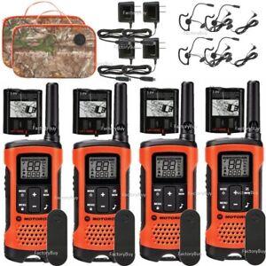 Motorola-Talkabout-T265-4-Pack-Walkie-Talkie-Set-25-Mile-Two-Way-Radio-Earbuds