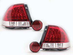 LED-RED-CLEAR-Tail-Lights-Rear-Trunk-Led-Fog-Lights-For-LEXUS-IS200-IS300-98-05
