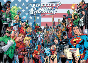 DC COMICS SUPERHEROES RETRO COMIC POSTER PICTURE PRINT Sizes A5 to A0 **NEW**