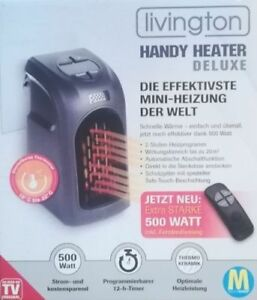 livington handy heater 500 w deluxe mini heizung miniofen inkl fernbedienung ebay. Black Bedroom Furniture Sets. Home Design Ideas