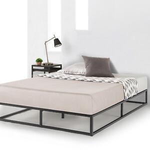Image Is Loading Metal Platform Bed Frame Wooden Slat Support Mattress