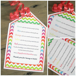 Image is loading 1-x-Teacher-039-s-personalised-gift-tag-