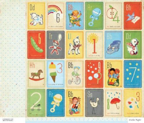 "Scrapbook Paper 12/"" Crate Paper Little Boy Blue Baby Trading card Shower Lamb"