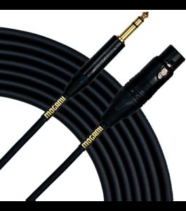 "Mogami 2534 Neutrik Gold Studio XLR-F to 1//4/"" TRS Balanced Cable Black 12 ft"