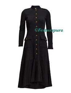 225-Ralph-Lauren-Denim-amp-Supply-Military-Officer-Long-Coat-Jacket-Womens-M