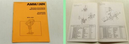 Ammann Duomat DVS-52E Betriebsanleitung Ersatzteilliste instruction parts list