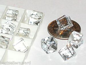 1 pc.Vintage SWAROVSKI Crystal Cube ball supplies No holes 3/4 flat back 6mm
