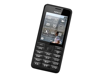 nokia 301 dual sim black ohne simlock smartphone. Black Bedroom Furniture Sets. Home Design Ideas