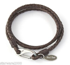 MENS-PERSONALISED-LEATHER-WRAP-BRACELET-FREE-ENGRAVING-amp-GIFT-BOX-INCLUDED
