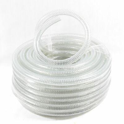 """1 1/4"""" / 32mm Spiralschlauch Sehr Flexibel Transpartent Meterware Länge Bis 50m Reinigen Der MundhöHle."""