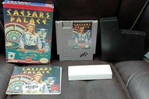 Caesars Palace  - NES Nintendo Game Original BOX Complete Manual Dust Cover