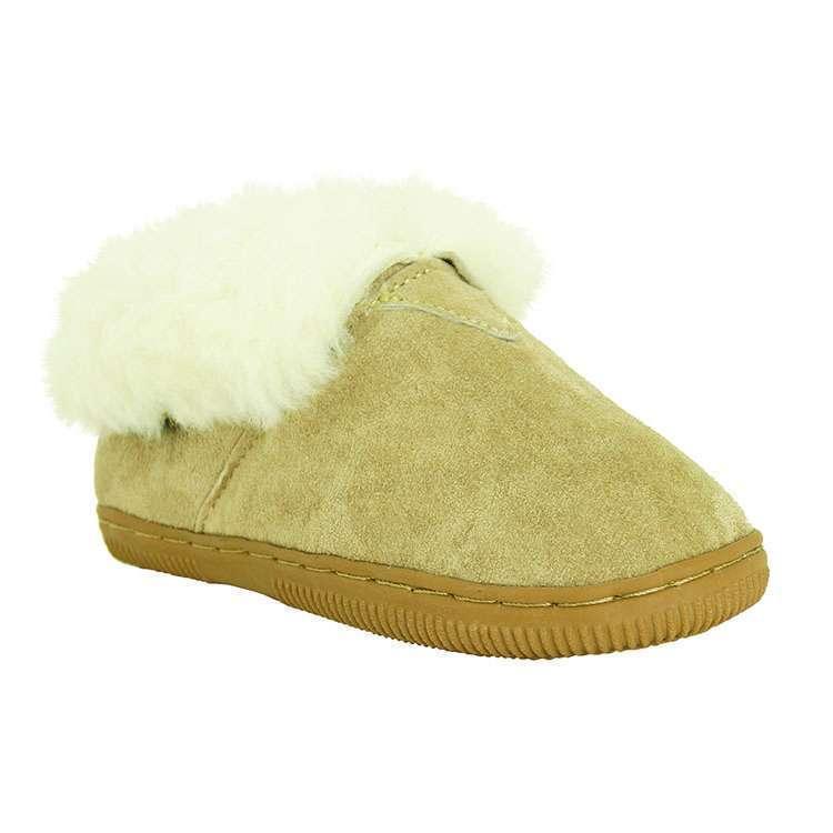 Womens Genuine Sheepskin Bootee Slipper by Old Friend Footwear - Medium or Wide
