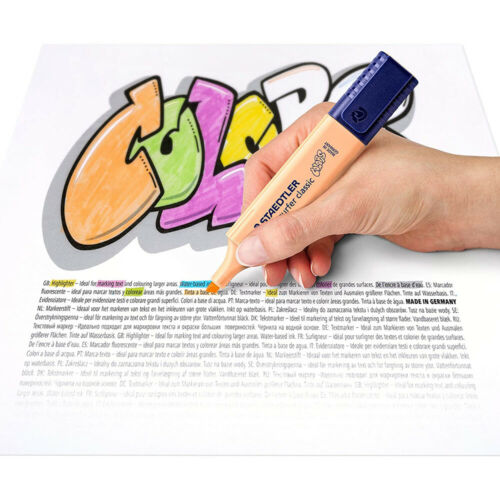Staedtler 364 CWP6 Textsurfer Classic Pastel Highlighter Case with 6 Colours