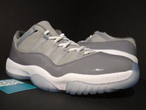 561a5d744193 2018 NIKE AIR JORDAN XI 11 RETRO LOW COOL GREY WHITE GUNSMOKE 528895 ...