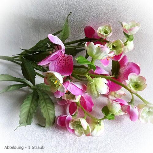 2x Bouquet schneerose 35 cm Rose Artificielle Fleur Art Fleurs Art Fleur