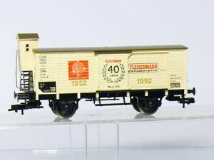 Fleischmann-5806-K-H0-DB-Wagon-de-Marchandises-40-Ans-Kkkulissen-comme-Neuf-Ovp
