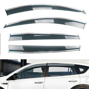 For 2006-2012 Toyota Rav4 Smoke Window Vent Visor Sun Rain Guards Deflector 4PC