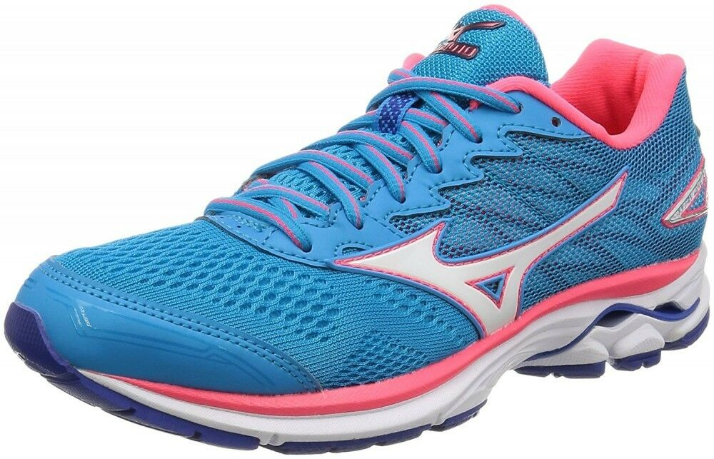 MIZUNO Lady's Running shoes WAVE RIDER 20 Super wide J1GD1706 Sky-blueee X white