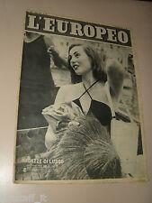 EUROPEO=1952/31=GIORGIO PASQUALI=CLARENCE SIMS=FAUSTO GARDINI MARCELLO DEL BELLO
