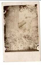 rppc real photo postcard Argonne Forest France WW1 cannon shell in tree military