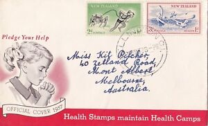 NZFD71-NZ-1957-Health-Stamps-Maintain-Health-Camps