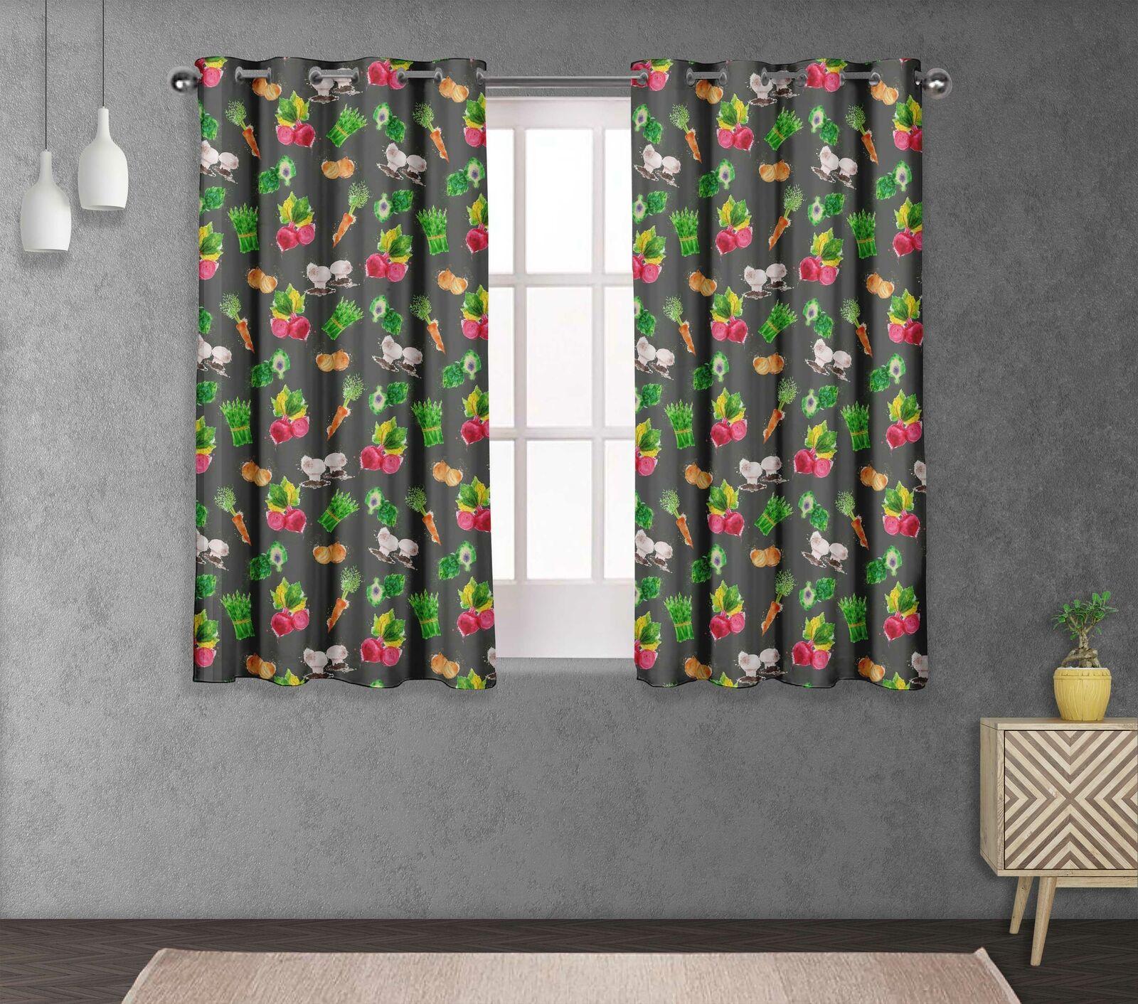 S4sassy Mixed Double Panel Window Treatment Curtain -VG-508B