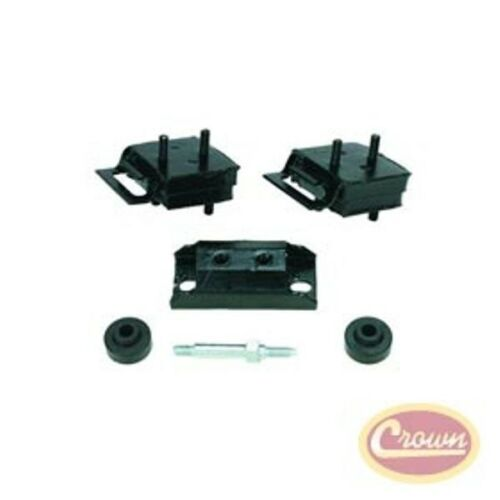 JEEP CJ AND SJ 71-91 WITH 304 360 V8 ENGINE TRANSMISSION 6PC MOUNT KIT