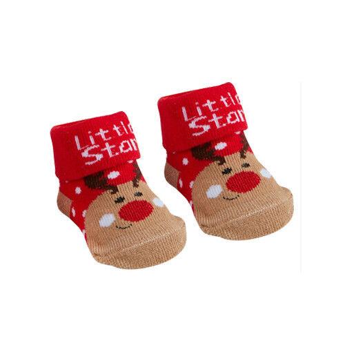 Babies Novelty Christmas Socks//Booties 0-6 or 6-12Months,Stocking//Christmas Gift