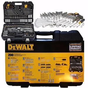 NEW-DEWALT-MECHANIC-039-S-TOOLSET-200-Piece-DWMT75000-Sockets-Wrenches-Bit-Driver