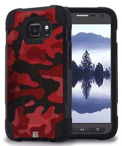 Beyond-Cell-Shell-Armor-Case-For-Samsung-Galaxy-S7-Active-Red-Camo