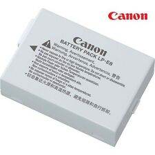 New Genuine Canon LP-E8 LPE8 Li-Ion Battery Pack (7.2v 1120 mAh 8.1Wh )